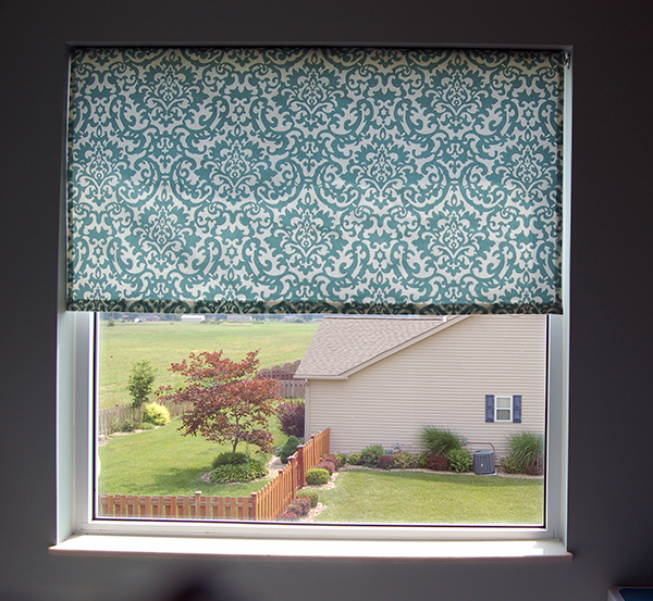 Fabric Roller Shades : How to make fabric roller shade