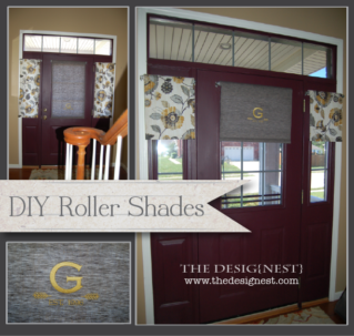 Monogrammed Decorative Roller Shades for Door Windows