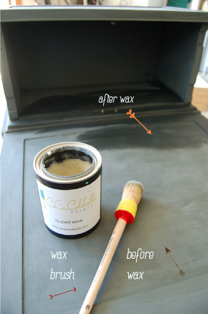 Furniture wax seals the #chalkpaint  thedesignest.com