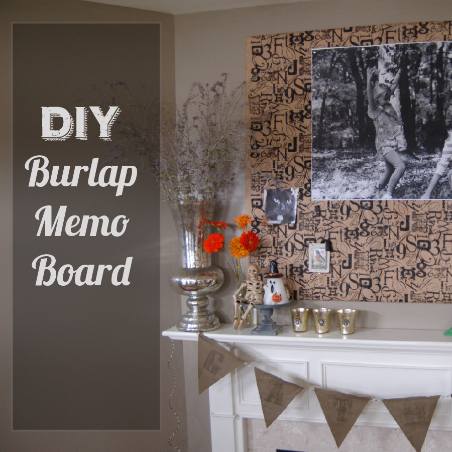 How to Make a Burlap Memo Board from thedesignest.com