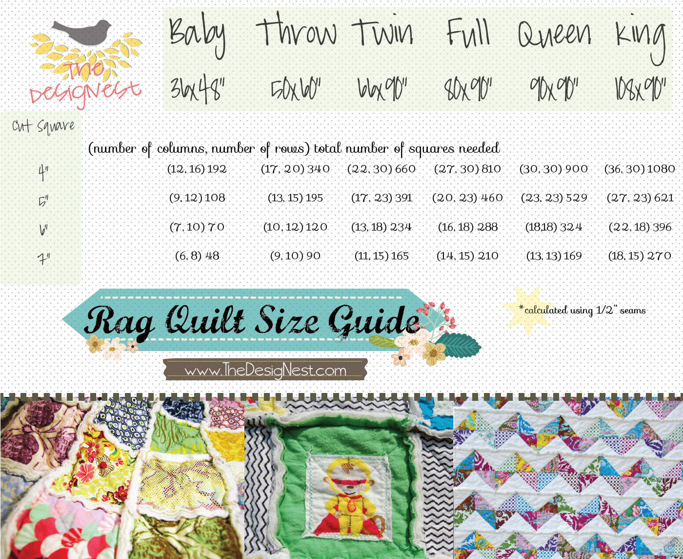 Crib size quilts for sale -  Rag Quilt Instructions