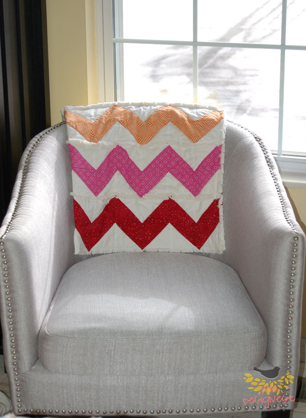 Chevron Rag quilt project