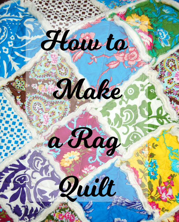 These are so fun & easy to make! #Rag #Quilt #Tutorial
