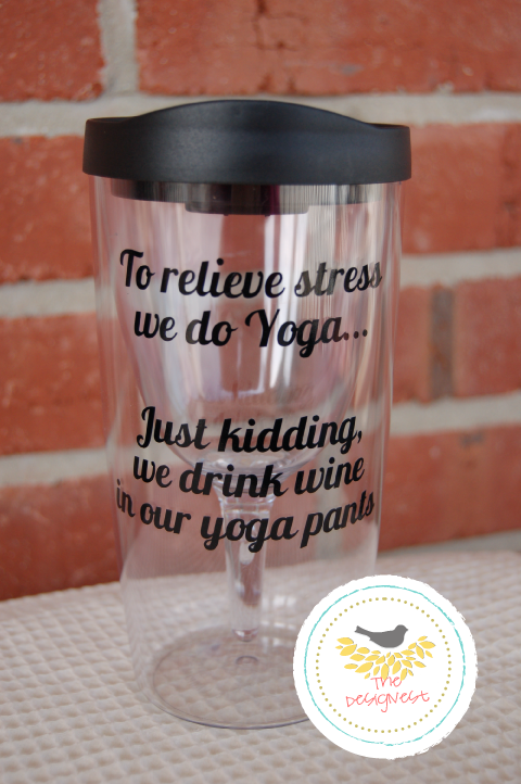 The popular Yoga Pants Wine Cup from TheDesignest.com