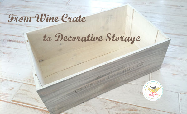 Old #wood wine box turned into #gift box from TheDesigNest.com
