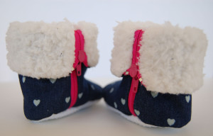 Must have baby boots! They remind me of baby Uggs!       thedesignest.com