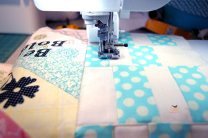 Quilting with the #babylock #unity sewing machine