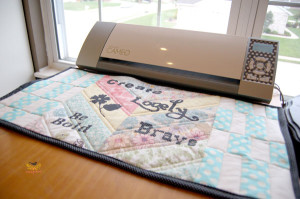Make a quilted mat for your #Silhouette.