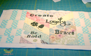 Cutting fabric words with a Silhouette Cameo from TheDesigNest. #fabricletters #silhouette