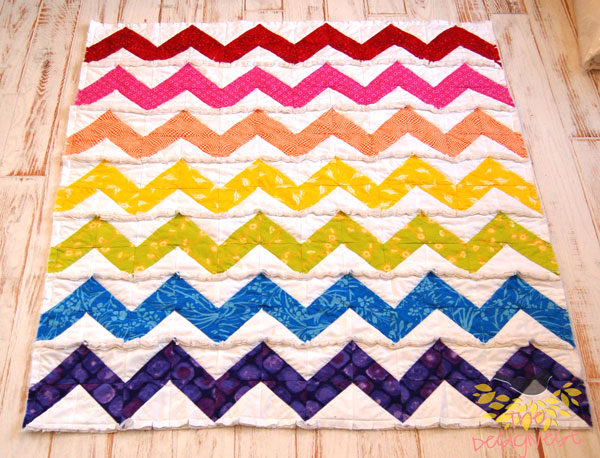 Several pictures of rag quilts on TheDesignest blog