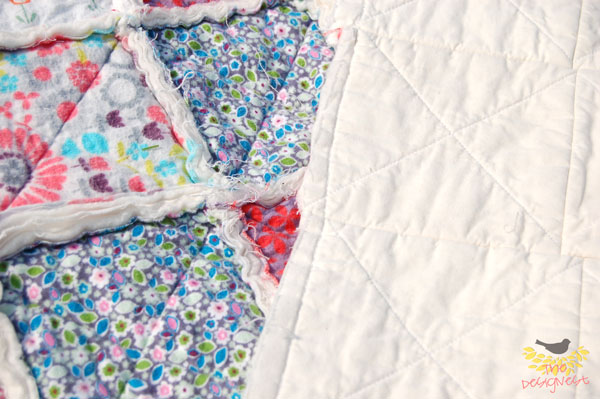 Rag quilt back using muslin #ragquilt