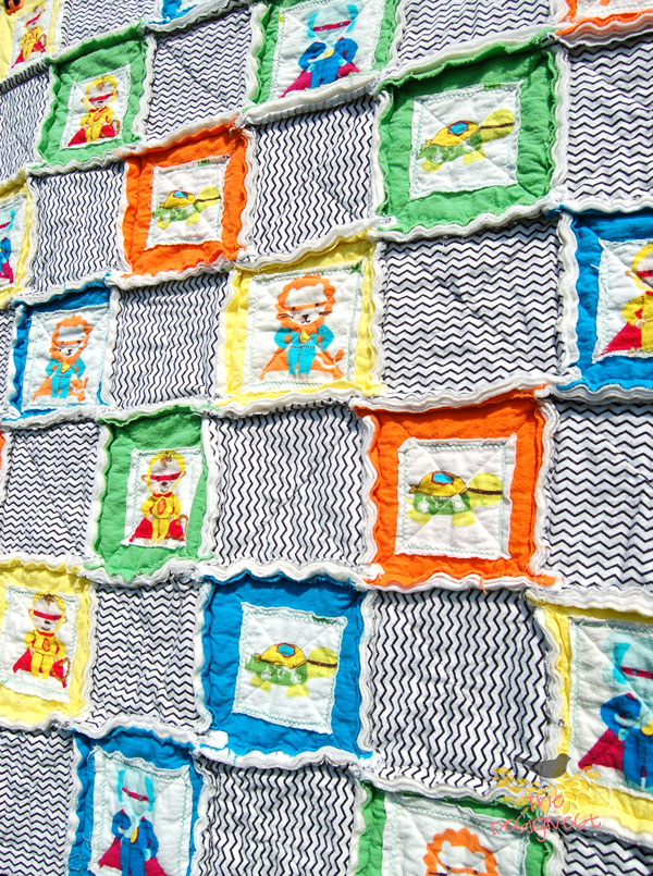 Rag Quilt images from TheDesignest blog #ragquilt
