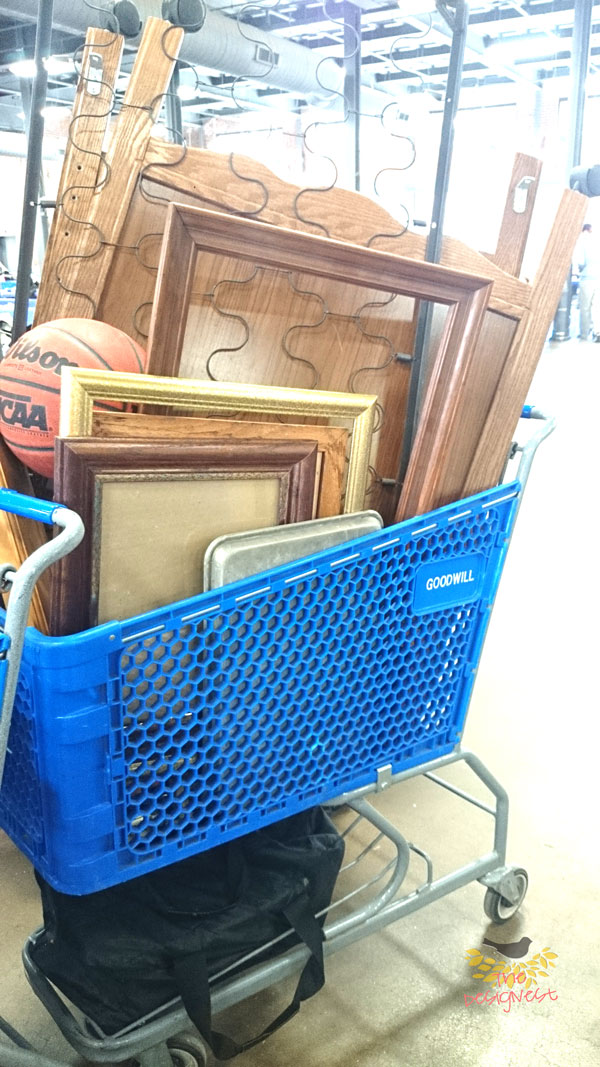 Score some frames for your DIY home decor projects at #Goodwill!