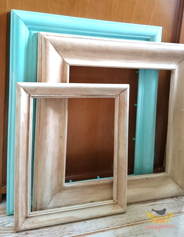 Chalk painted repurposed picture frames are the perfect  to use in your DIY home decor projects