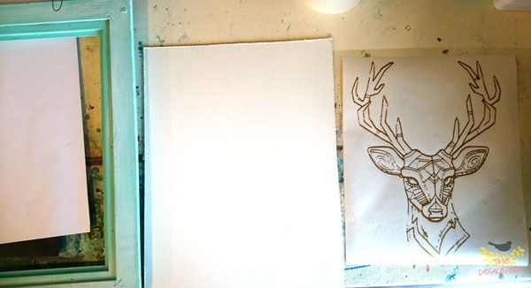 DIY Home Decor Project #deer #chalkpaint
