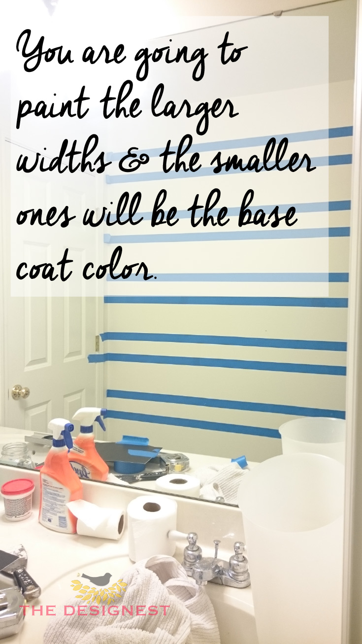 #DIY #Stripes How to paint stripes on a wall