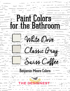 How to paint stripes in your #Bathroom #DIY
