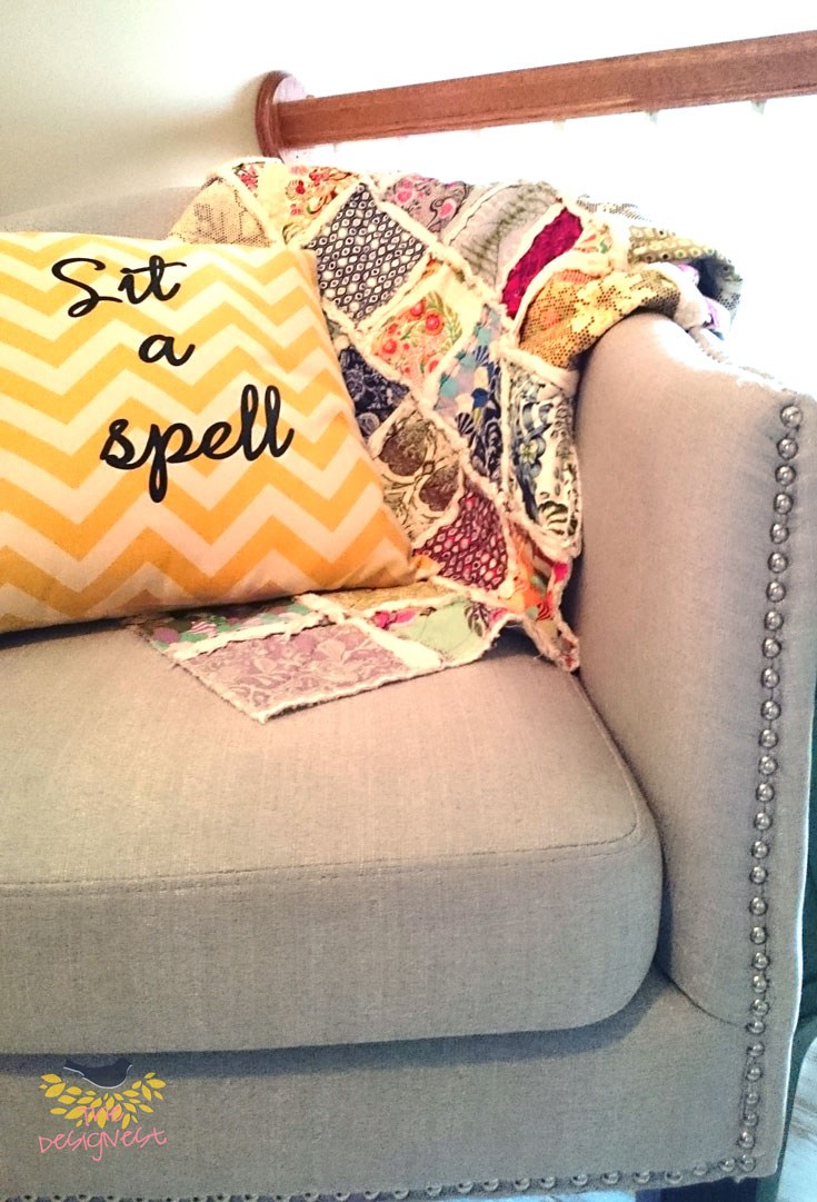 Quick removable throw pillow cover using an invisible zipper makes these so easy to put together!