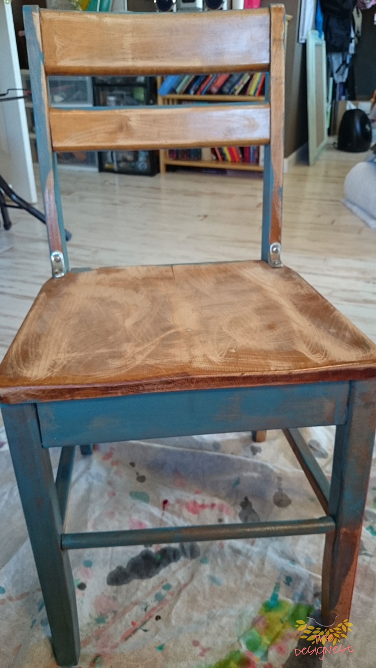 DIY Project - Using Milk Paint to give a vintage school desk a new look. See the whole process on The Designest Blog.