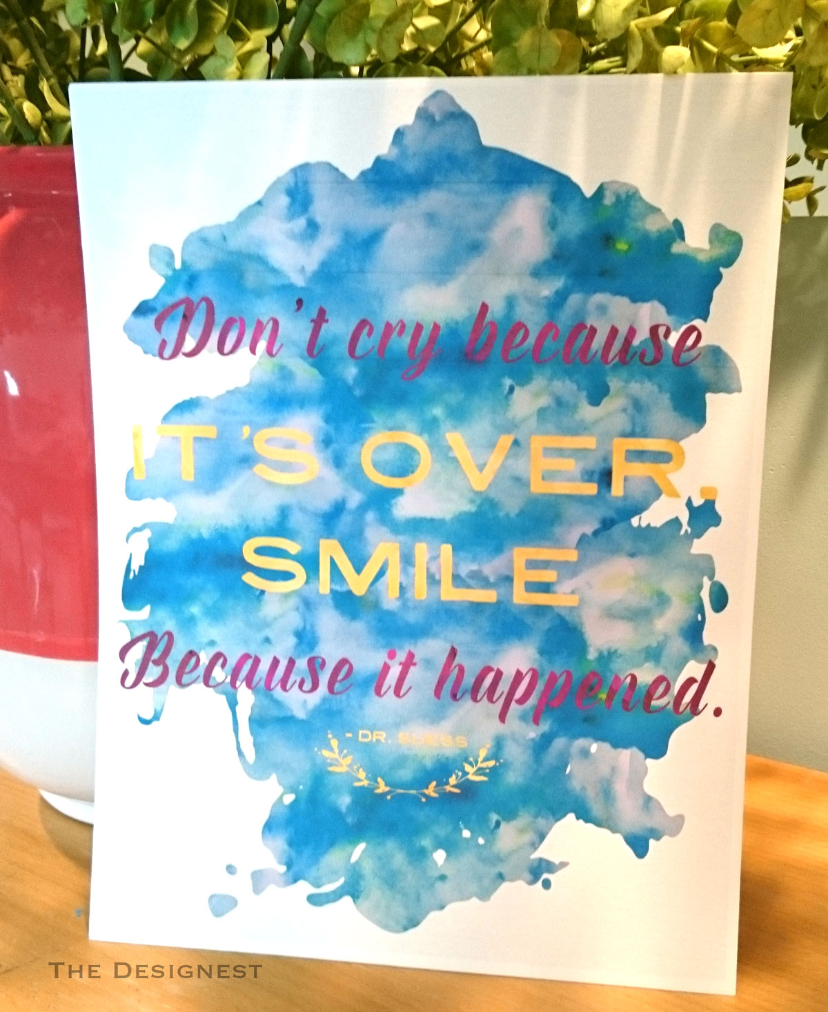 Don't Cry Because It's Over, Smile Because It Happened | Graduation Party Decoration Free Printable at The Designest