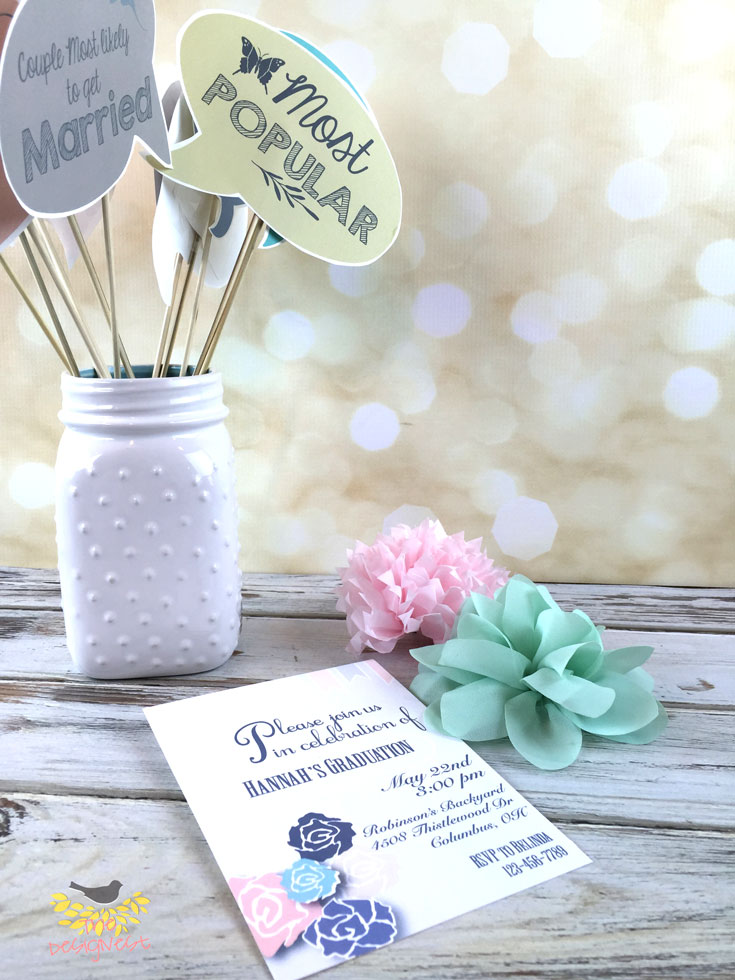 Printable photo booth props - These are awesome for a Graduation Party!