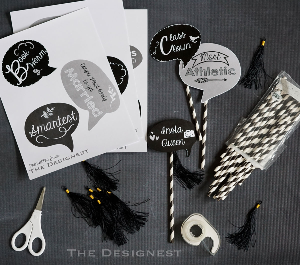 Download and print these free photo booth props that are perfect for any Graduation Party! From The Designest