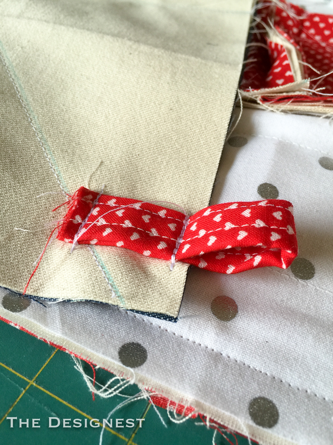 Learn how to make a quick and easy flag rag quilt.