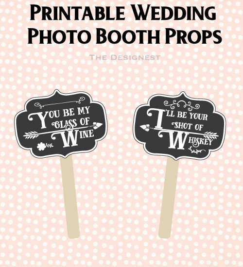 Grab these and a bunch more printable photo booth props from The Designest