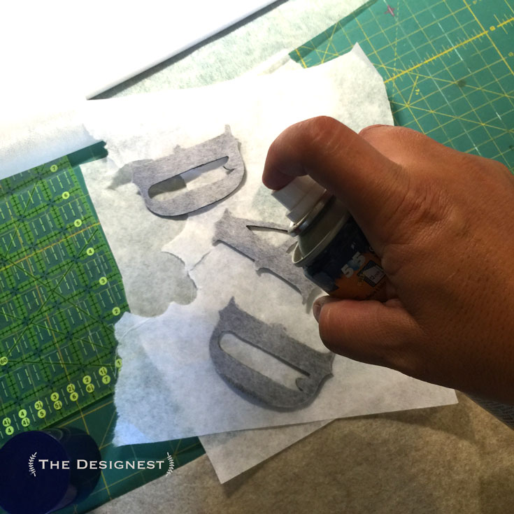 A quick lesson on how to sew on letters. Possibilities are endless!