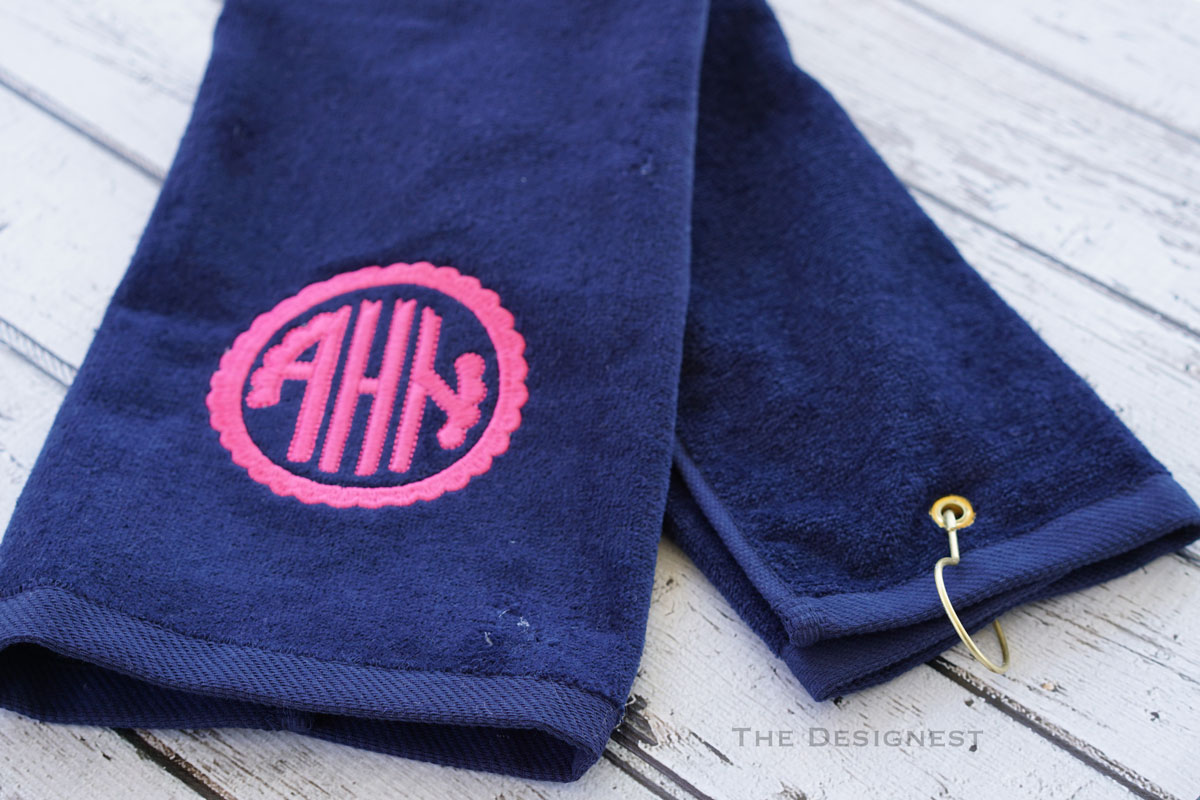 Monogrammed Golf Towel - Mothers Day Gift Idea from The Designest