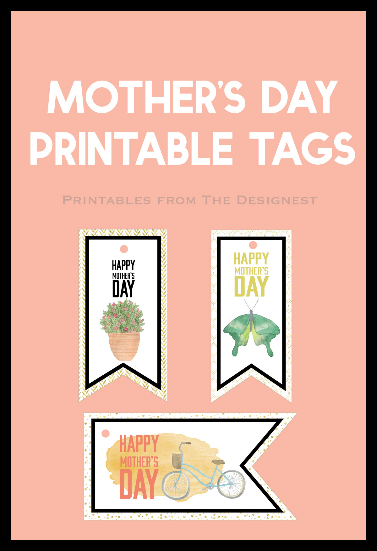 Mothers Day Gift Tags - Printables from The Designest