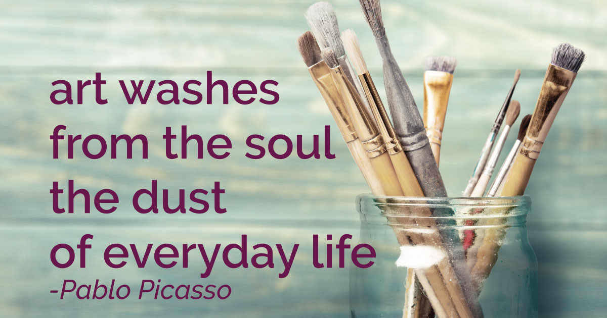Art washes from the soul the dust of everyday life. - Pablo Picasso | A review of the online painting course Bloom True with Flora Bowley.