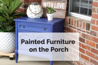 Painted Furniture on The Porch